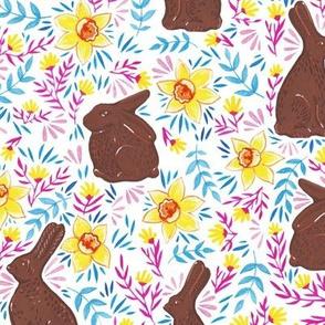 Chocolate Rabbits on White
