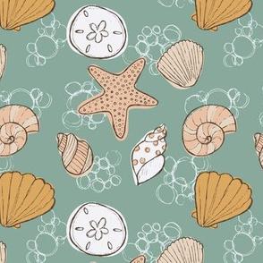 Beachcomber Seashells Green