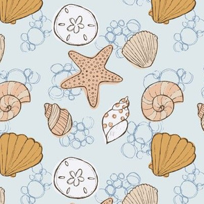 Beachcomber Seashells Light Blue
