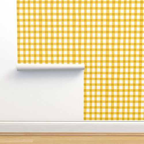 checkered yellow plaid vichy by unPATO