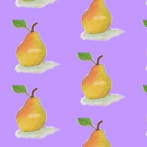 A Heavenly Pear in a Purple World