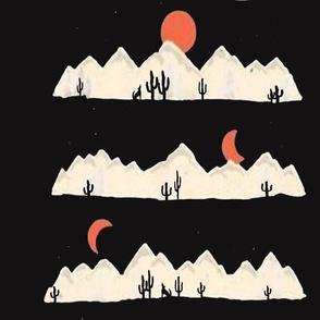 Desert - Cactus Moon 58 inches