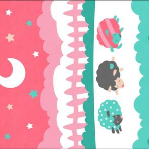 "Sleepy Sheep Blankets 18""x27"" Sherbet"