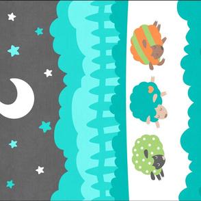"Sleepy Sheep Blankets 18""x27"" Jungle"
