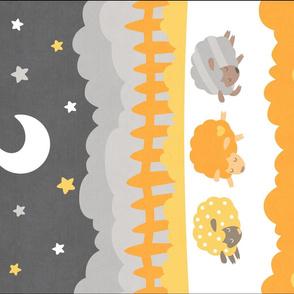 "Sleepy Sheep Blankets 18""x27"" Yellow"