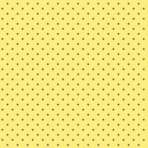 Tiny brown polka dots on yellow