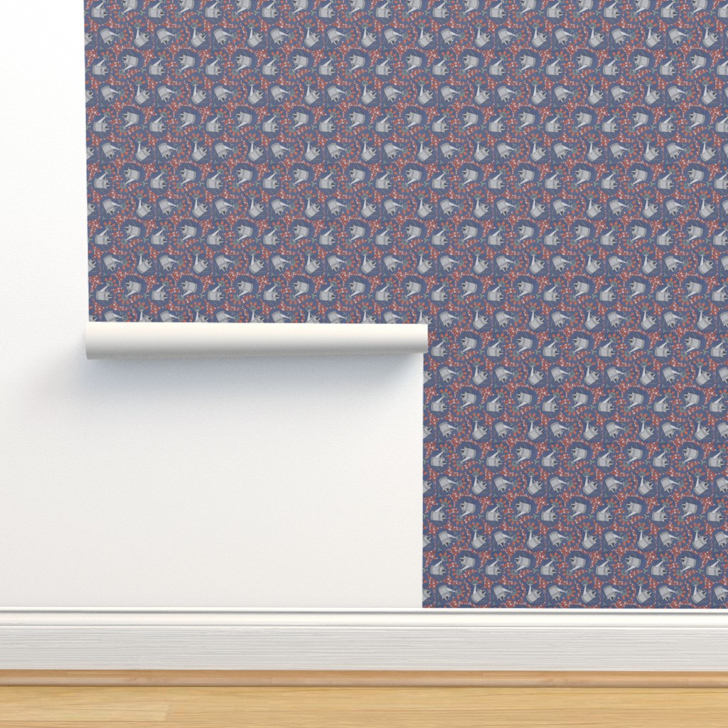 Isobar Durable Wallpaper featuring Watering the Flowers by thewellingtonboot