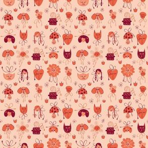 Cute Faces - Peach