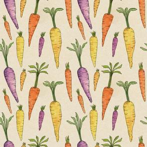 Heirloom Watercolor Carrots