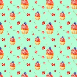 Muffins and Cherries