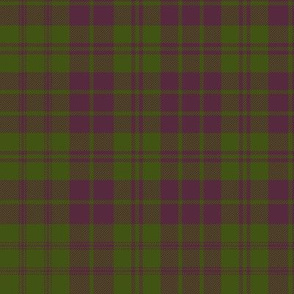 "MacRae purple/green tartan, 12"" muted"