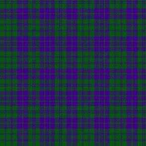 "MacRae purple/green tartan, 6"" modern"