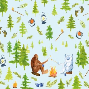 annual camping trip blue