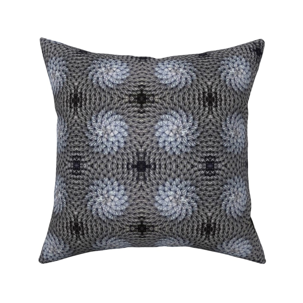 Catalan Throw Pillow featuring dark dandelions by hypersphere