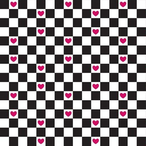 Checkered with Hearts Classic (Sugar)