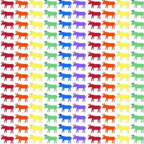 Rainbow Moose fabric