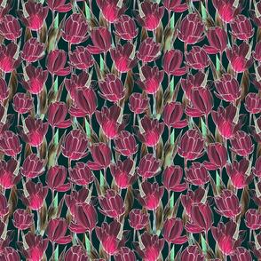 flowers pattern tulips