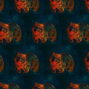 The Midnight Wombat trot-OrangeOnGreen-