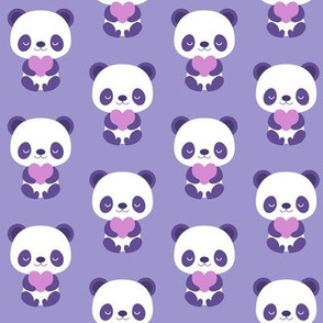 Cute purple baby pandas