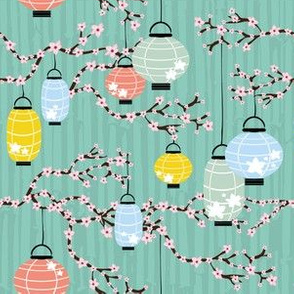 Lanterns and Cherry Blossoms