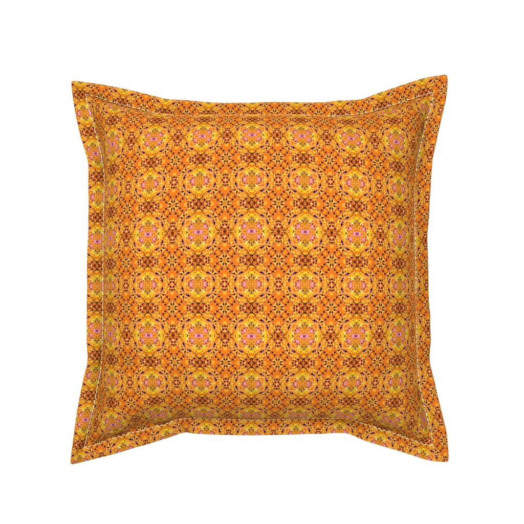Serama Throw Pillow featuring Sunset Hindu Dreams by just_meewowy_design