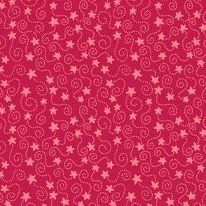 Red Swirling Stars