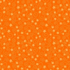 Orange Swirling Stars