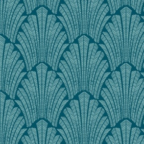 Art deco  teal medium Scale