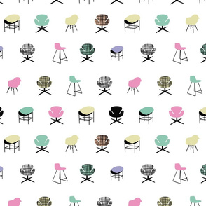 iconic chairs Pastel