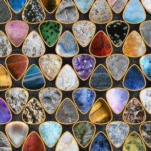 Rockin' Rocks - gold Geology Guitar picks large