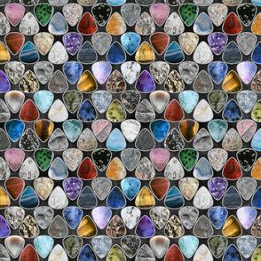 Rockin' Rocks - silver Geology Guitar picks medium