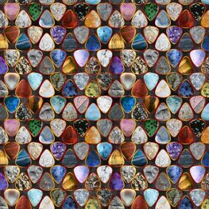 Rockin' Rocks - fire Geology Guitar picks medium