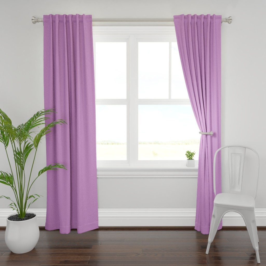 Plymouth Curtain Panel featuring Purple polka dots on pink by petitspixels