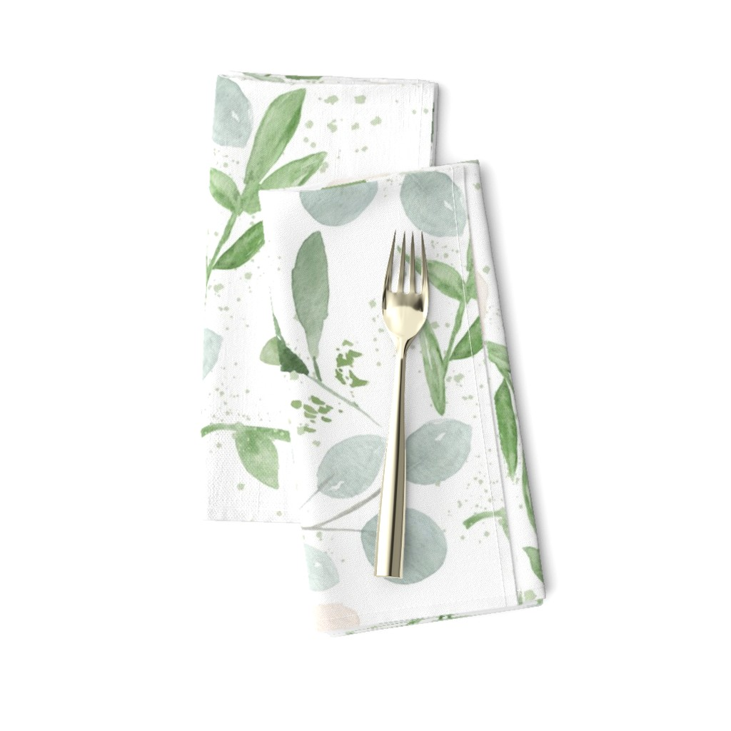 Amarela Dinner Napkins featuring SEAMLESS watercolor Larger flower paper by daily_miracles
