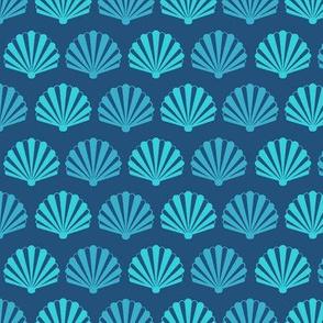 SeaShells on blue