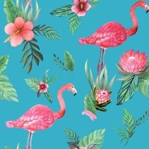Flamingo  Dream Garden, the jungle zen
