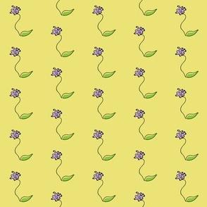Purple Iris Doodle
