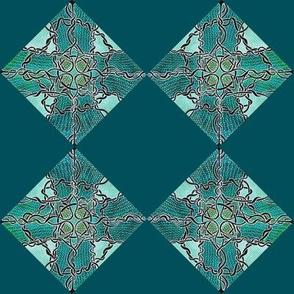 Diamond Vine checkerboard cheater squares