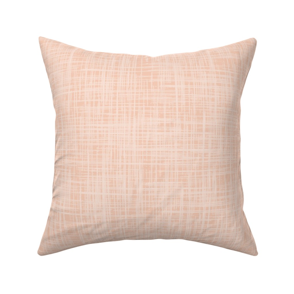 Catalan Throw Pillow featuring Linen sea coral by katherine_quinn