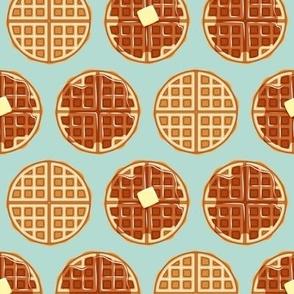 waffles - dark mint