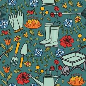 Gardening-Teal