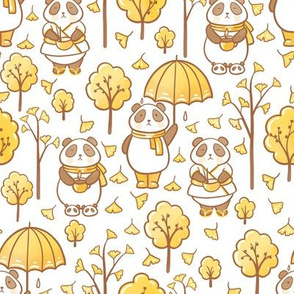 pandas and ginkgo