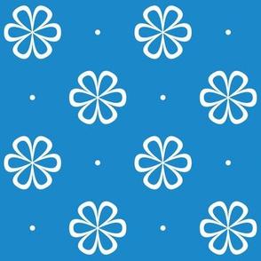 Infinity Flower Blue