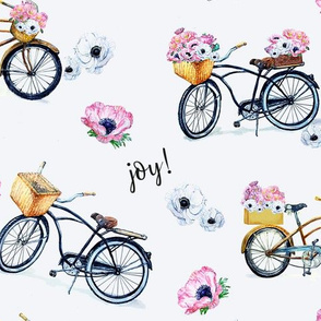 Joy of Vintage Bikes and Flowers
