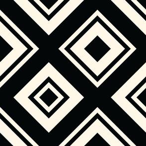 Necktie Diamonds in Black and Ivory