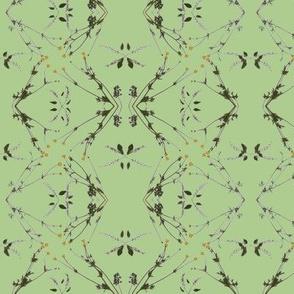 Wild Cherry & Buttercups  (Green)