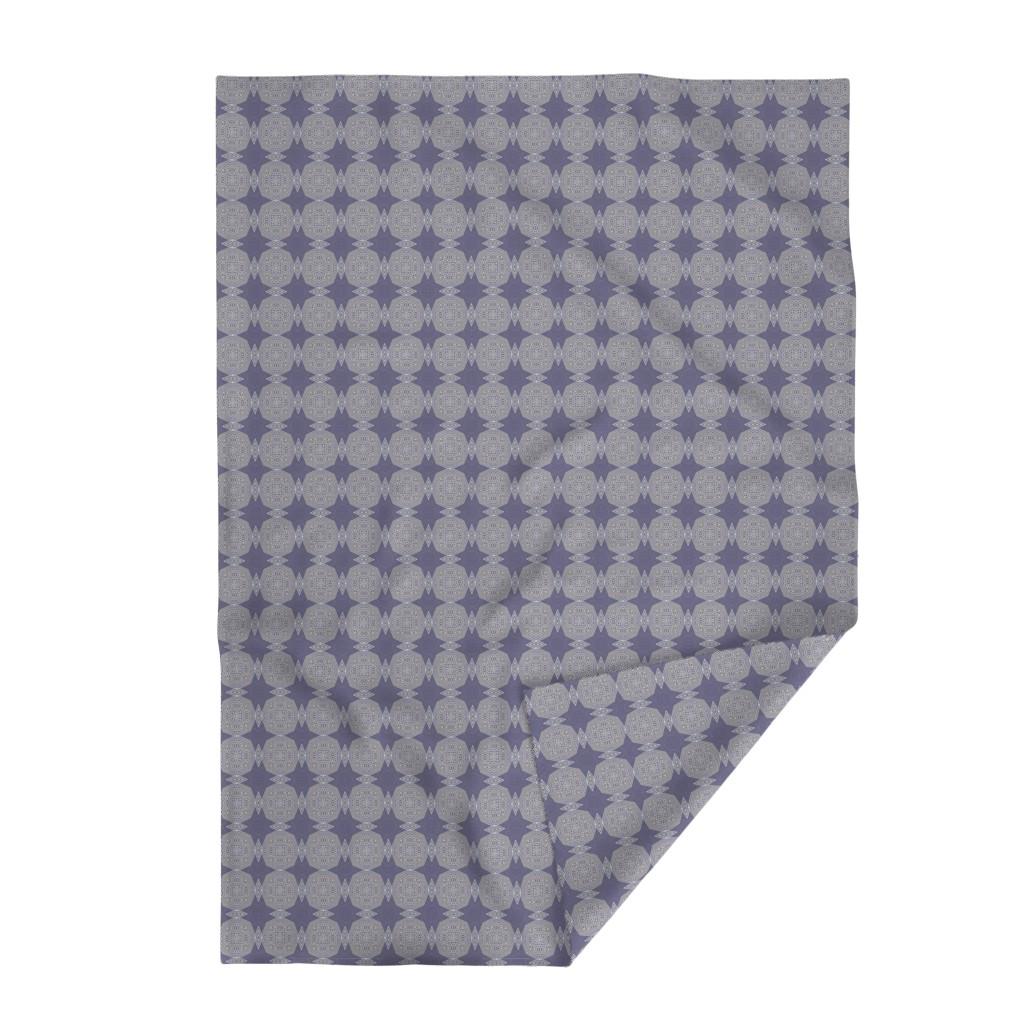 Lakenvelder Throw Blanket featuring CL_W_denim-medallions by wren_leyland
