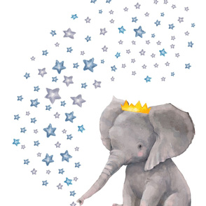 "27""x36"" Baby Elephant with Stars"