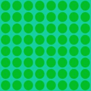Green on Greenish Blue Small- Spring Dots