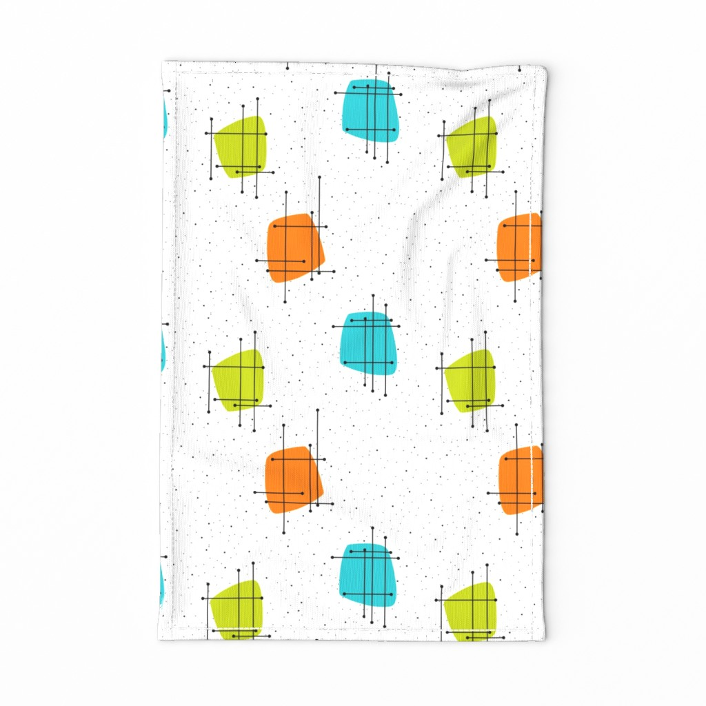 Special Edition Spoonflower Tea Towel featuring Orbit #LAO by tonyanewton